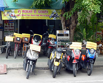 bikes for rent in hua hin
